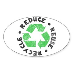 Recycle! Rectangle Sticker (Oval 10 pk)