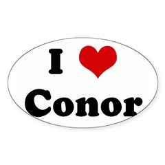 I Love Conor Sticker (Oval 10 pk)