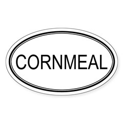 CORNMEAL (oval) Oval Sticker (Oval 10 pk)