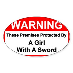Fencing Premises - Rectangle Sticker (Oval 10 pk)