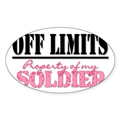 property of my soldier Rectangle Sticker (Oval 10 pk)