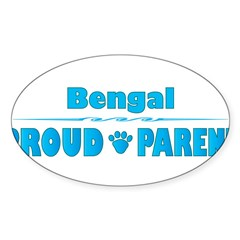 Bengal Parent Rectangle Sticker (Oval 10 pk)