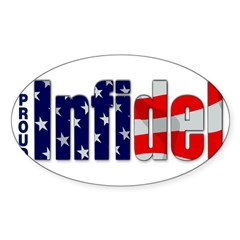 Proud Infidel Rectangle Sticker (Oval 10 pk)