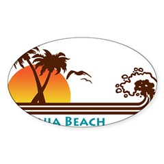 Virginia Beach Rectangle Sticker (Oval 10 pk)