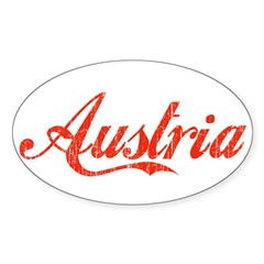 Vintage Austria Rectangle Sticker (Oval 10 pk)