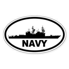 NAVY Destroyer Oval Sticker (Oval 10 pk)