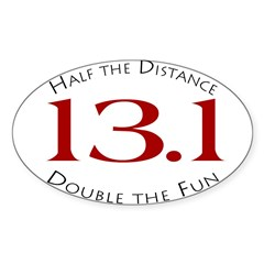 13.1 - Half the Distance Oval Sticker (Oval 10 pk)