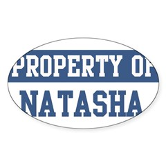 Property of NATASHA Sticker (Oval 10 pk)