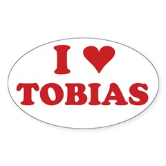 I LOVE TOBIAS Sticker (Oval 10 pk)