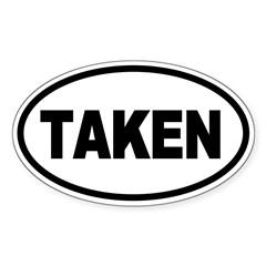 Taken Oval Oval Sticker (Oval 10 pk)