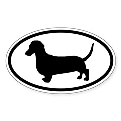 Dachshund Oval Sticker (Oval 10 pk)