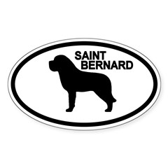 Saint Bernard Oval Sticker (Oval 10 pk)