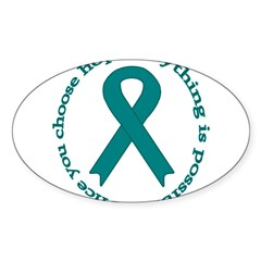 Teal Hope Oval Sticker (Oval 10 pk)