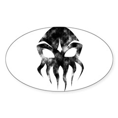 Cthulhu (distressed) Rectangle Sticker (Oval 10 pk)