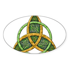 Celtic Trinity Knot Rectangle Sticker (Oval 10 pk)