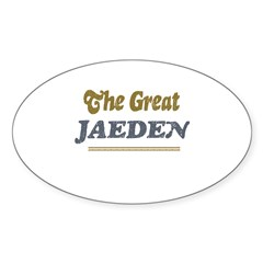 Jaeden Rectangle Sticker (Oval 10 pk)