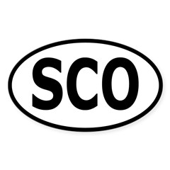 Scotland Oval Sticker (Oval 10 pk)