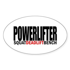 POWERLIFTER Rectangle Sticker (Oval 10 pk)