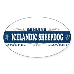 ICELANDIC SHEEPDOG Sticker (Oval 10 pk)