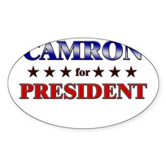 CAMRON for president Rectangle Sticker (Oval 10 pk)