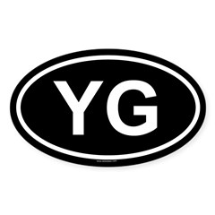 YG Oval Sticker (Oval 10 pk)