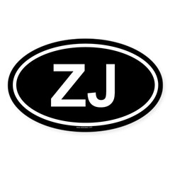 ZJ Oval Sticker (Oval 10 pk)