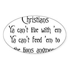 Christians Rectangle Sticker (Oval 10 pk)