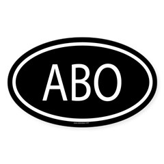 ABO Oval Sticker (Oval 10 pk)