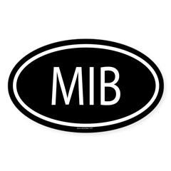 MIB Oval Sticker (Oval 10 pk)