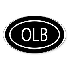OLB Oval Sticker (Oval 10 pk)