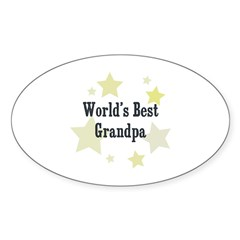 World's Best Grandpa Rectangle Sticker (Oval 10 pk)