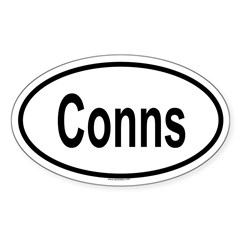 CONNS Oval Sticker (Oval 10 pk)