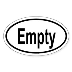 EMPTY Oval Sticker (Oval 10 pk)