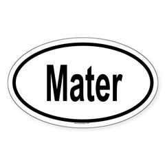 MATER Oval Sticker (Oval 10 pk)