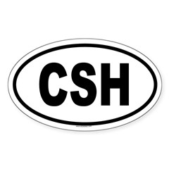CSH Oval Sticker (Oval 10 pk)