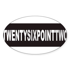 TWENTYSIXPOINTTWO Sticker (Oval 10 pk)