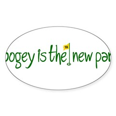 Bogey is the new Par Sticker (Oval 10 pk)