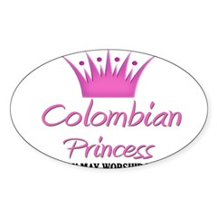 Colombian Princess Rectangle Sticker (Oval 10 pk)
