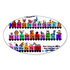Alphabet Train Rectangle Sticker (Oval 10 pk)