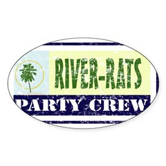 River Rat Rectangle Sticker (Oval 10 pk)