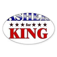 ASHER for king Rectangle Sticker (Oval 10 pk)