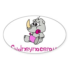 Sydneynocerous Rectangle Sticker (Oval 10 pk)