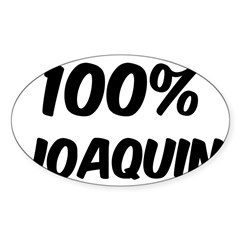 100 Percent Joaquin Sticker (Oval 10 pk)