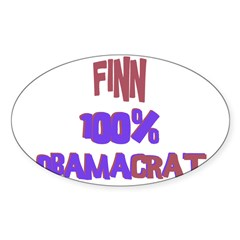 Finn - 100% Obamacrat Rectangle Sticker (Oval 10 pk)