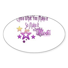 Life's What You make it Rectangle Sticker (Oval 10 pk)