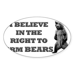 Right To Arm Bears Rectangle Sticker (Oval 10 pk)