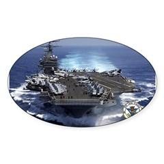 USS Carl Vinson CVN-70 Rectangle Sticker (Oval 10 pk)