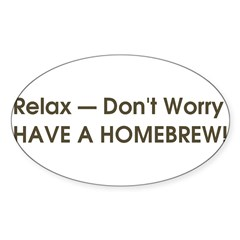Relax... have a homebrew retro Sticker (Oval 10 pk)