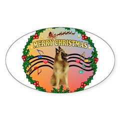XmasMusic2/Tervuren Sticker (Oval 10 pk)