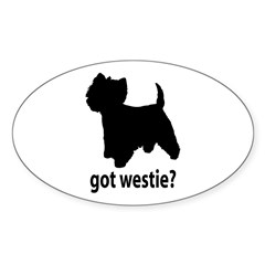 Got Westie? Oval Sticker (Oval 10 pk)